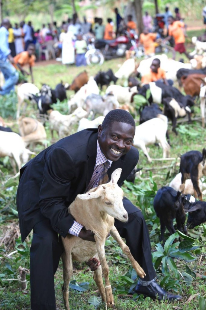 pastor paul with goat