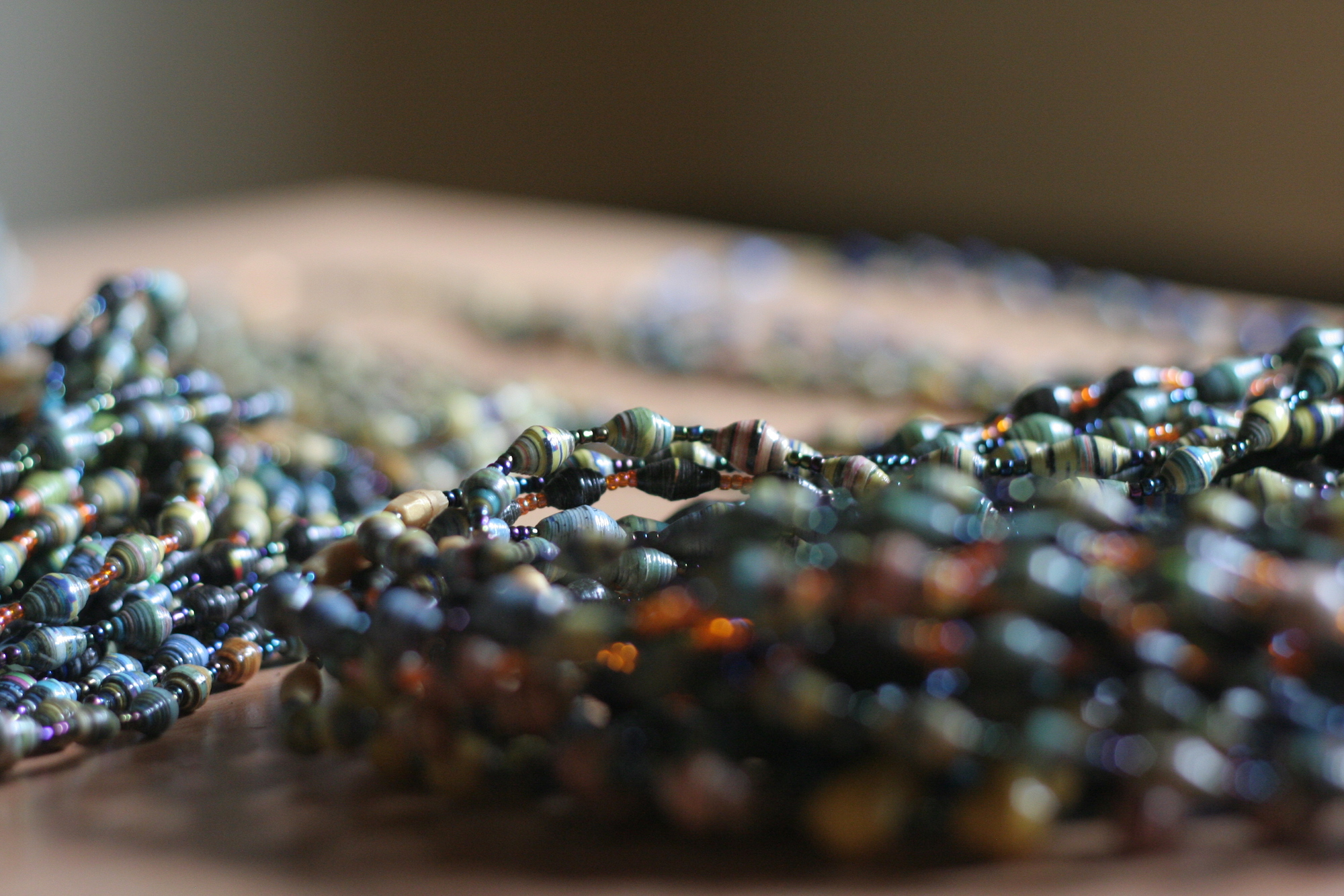 Close up of beads