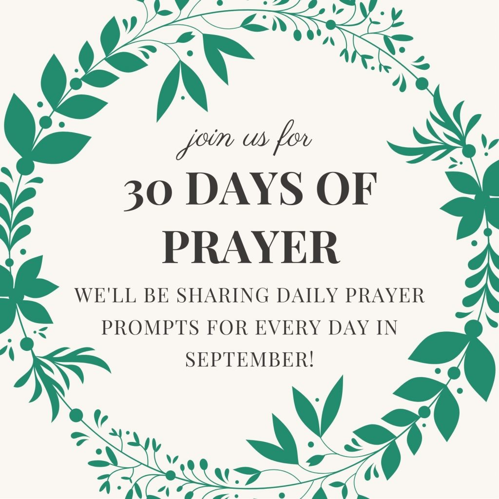 30 days of prayer prompts introduction