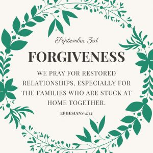 Prayer Prompt for forgiveness