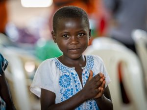 A young child in Uganda
